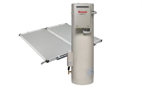 Rinnai Sunmaster Electric Boost Solar Hot Water With Ground Tank