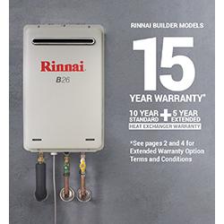 Rinnai B26 Builders Series Continuous Flow Hot Water