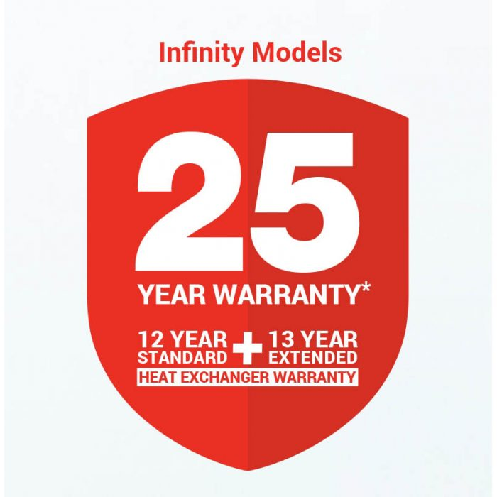 Rinnai Infinity 26 - 6.1 Star Continuous Flow Gas Hot Water