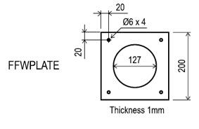 Rinnai Internal/External Wall Plate