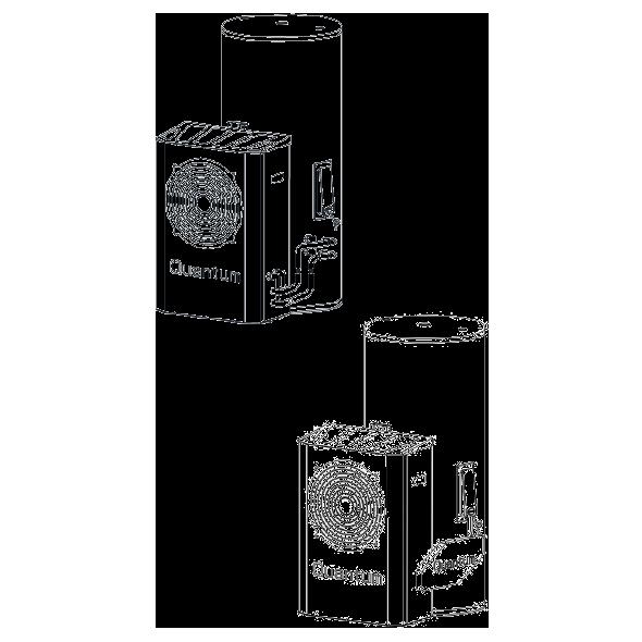 Quantum Platinum 270L Solar Heat Pump - Model 270-08AS6-290