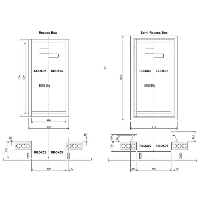Rinnai Fully Recessed Box (Infinity 32 & HD250)