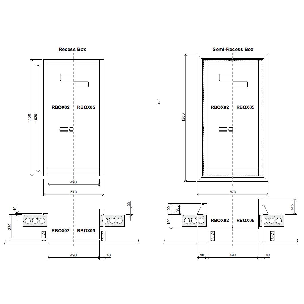 Rinnai Fully Recessed Box (Suits Enviro 26 & 32)