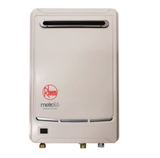 Rheem Metro 16L Gas Continuous Flow Water Heater: 50°C or 60°C