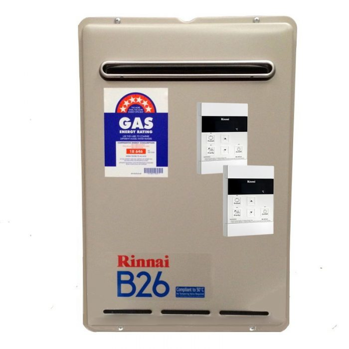 Rinnai KB26 Builders Series Continuous Flow Hot Water with 2 Controllers - EXTENDED 5 YEAR WARRANTY