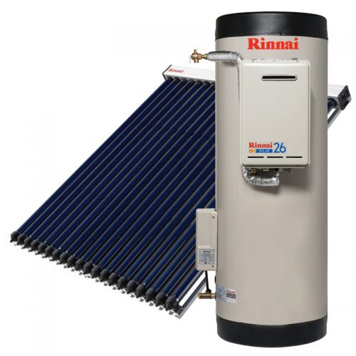 Rinnai Prestige Evacuated Tube Solar Hot Water (Gas Booster)