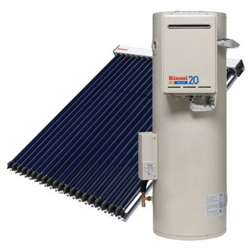Rinnai Sunmaster Evacuated Tube Solar Hot Water (Gas Booster)