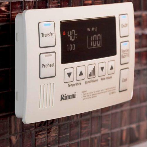 Rinnai Deluxe Bathroom Controller White