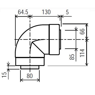 Rinnai Infinity Internal 90deg Start Bend - Horizontal Only