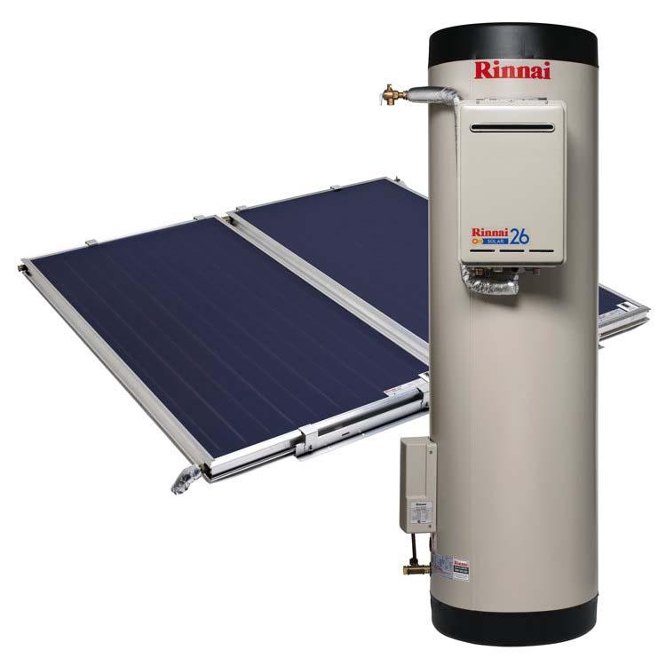 Rinnai Prestige Flat Plate Solar Hot Water (Gas Boost & Stainless Ground Steel Tank)