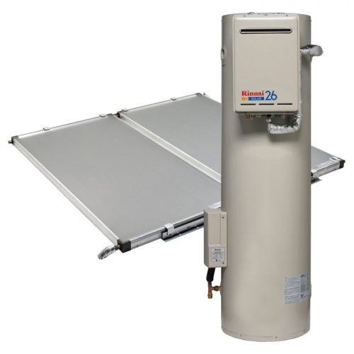 Rinnai Sunmaster Gas Boost Solar Hot Water With Ground Tank